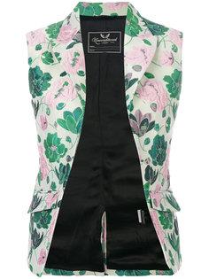 floral jacquard waistcoat Unconditional