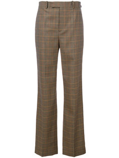 брюки клеш в клетку  Ralph Lauren Collection
