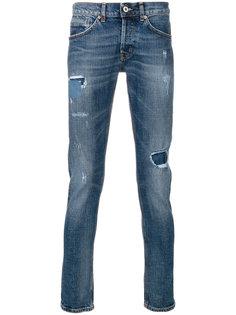 джинсы кроя слим с потертой отделкой Dondup