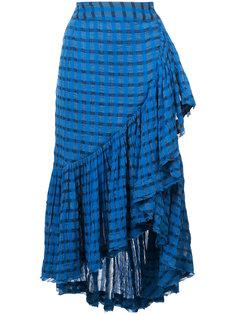 юбка в полоску с оборками Ulla Johnson