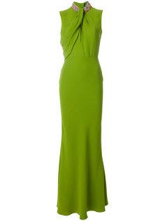 платье с отделкой на воротнике  Alexander McQueen