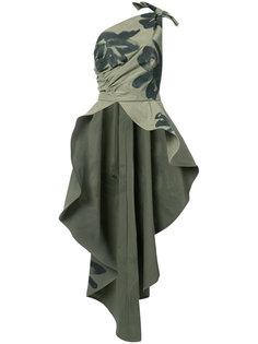 асимметричная блузка на одно плечо Moschino