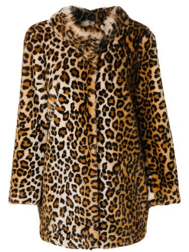 leopard print coat Blugirl