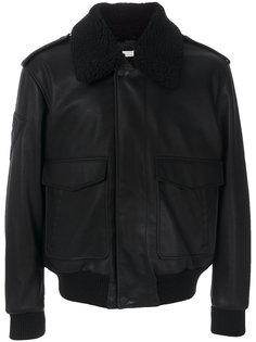 куртка-бомбер из искусственной кожи Stella McCartney