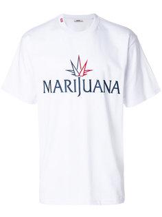 футболка с принтом Marijuana Gcds
