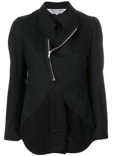 zipped curved jacket  Comme Des Garçons Comme Des Garçons