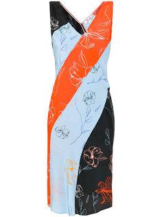 платье колор блок в диагональную полоску  Diane Von Furstenberg