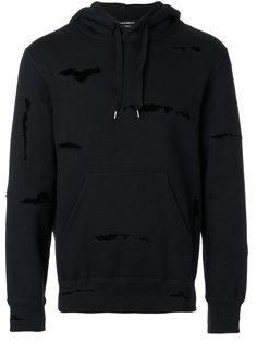 embroidered hoodie Alexander McQueen