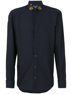 рубашка с пчелами на воротнике Dolce & Gabbana