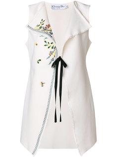 жакет с вышивкой без рукавов Christian Dior Vintage