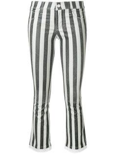 укороченные брюки в полоску  Rta