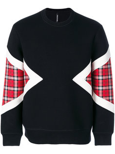 check-panelled sweatshirt Neil Barrett