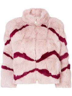 меховая куртка в полоску Blugirl