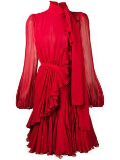 полупрозрачное платье мини с оборкой  Giambattista Valli