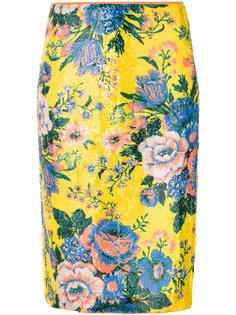 юбка-карандаш с цветочным принтом  Diane Von Furstenberg