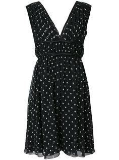 платье в горошек без рукавов  Giambattista Valli