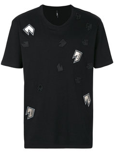 футболка с заплатками Versus