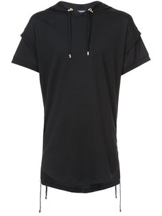 футболка с капюшоном Balmain