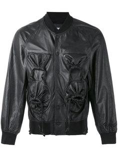 куртка-бомбер с присборенными карманами  KTZ