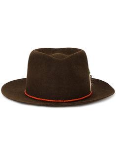 шляпа с бусинами La Mort Nick Fouquet