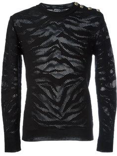 свитер с животным принтом Balmain