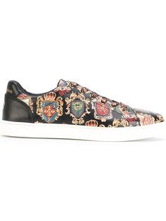 кроссовки с гербами Dolce & Gabbana