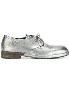 металлические туфли на шнуровке Roberto Del Carlo