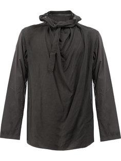 рубашка с драпированной деталью Yohji Yamamoto