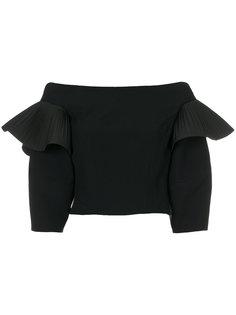 укороченная блузка с открытыми плечами  Alberta Ferretti
