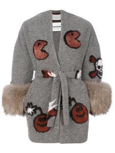 куртка с поясом и узором  Ava Adore