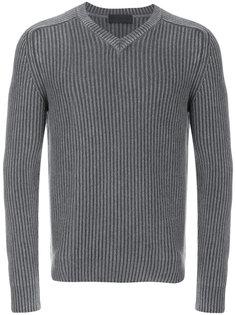 пуловер в рубчик с V-образным вырезом Iris Von Arnim