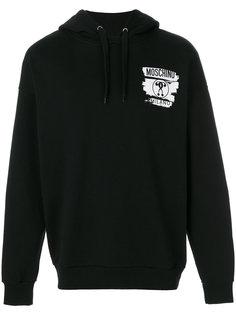 logo print hoodie Moschino