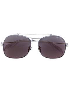 солнцезащитные очки в овальной оправе Alexander Mcqueen Eyewear
