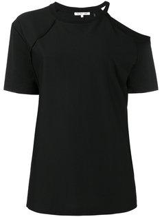 футболка с открытым плечом  Helmut Lang