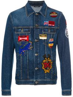 джинсовая куртка с заплатками Dolce & Gabbana
