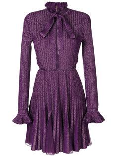 плиссированное платье металлик  Elie Saab
