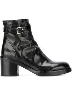 сапоги по щиколотку на каблуках-столбиках Officine Creative