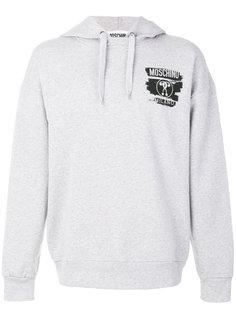 chest logo hoodie Moschino
