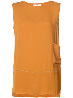 блузка с вырезом-лодочка Fabiana Filippi