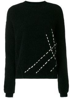 contrast stitch top Uma Wang