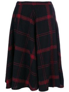 checked flared skirt Bellerose