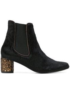 glitter heeled ankle boots Stine Goya