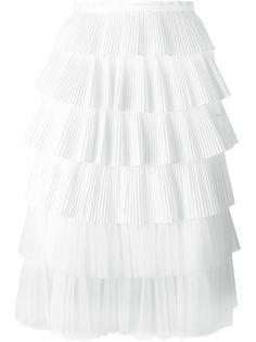 многослойная плиссированная юбка  Rochas