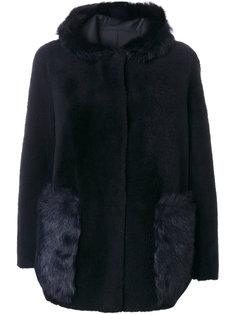 пальто с мехом  Blancha