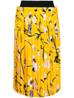 плиссированная юбка с цветочным принтом Emilio Pucci