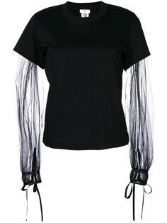 футболка с рукавами из тюля  Comme Des Garçons Noir Kei Ninomiya