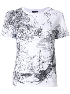 футболка с принтом леса Alexander McQueen