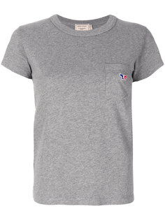 футболка с нашивкой-лисой  Maison Kitsuné