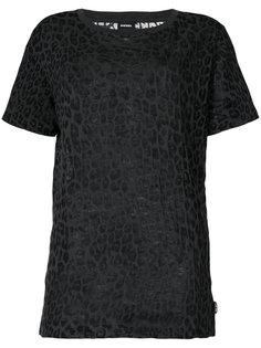 футболка с леопардовым принтом  Diesel