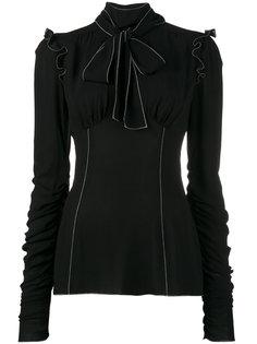 блузка с белой прошивкой Dolce & Gabbana